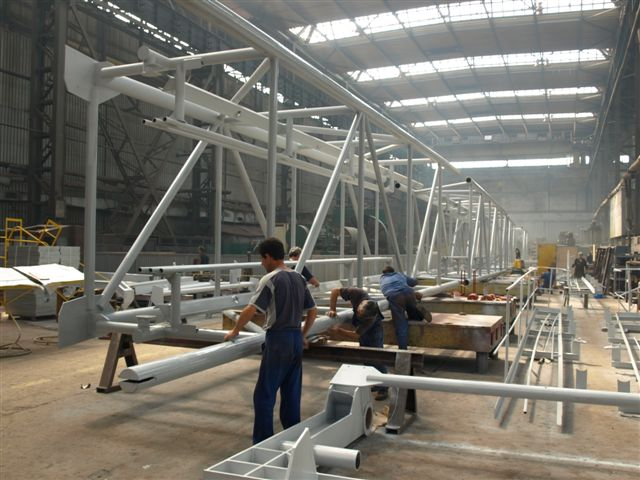 Structuri metalice pentru utilaje de haldare